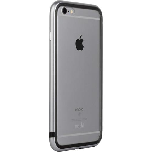 Moshi iGlaze Luxe Metal Bumper Case for iPhone 6/6s (Titanium Gray)