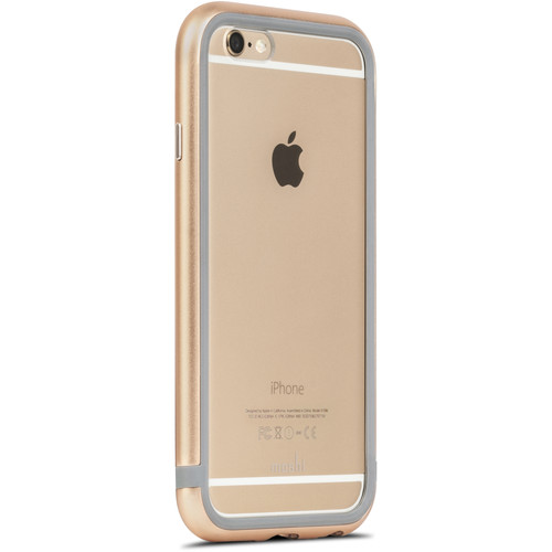 Moshi iGlaze Luxe Metal Bumper Case for iPhone 6/6s (Satin Gold)