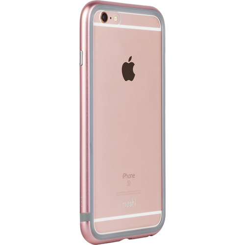 Moshi iGlaze Luxe Metal Bumper Case for iPhone 6/6s (Rose Pink)