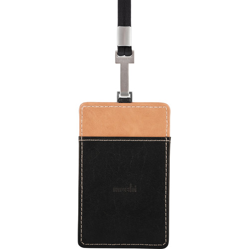 Moshi PU Leather Badge Holder (Onyx Black)