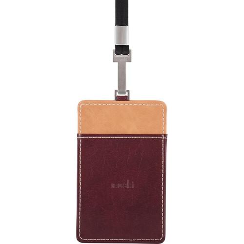 Moshi PU Leather Badge Holder (Burgundy Red)