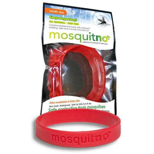 Mosquitno Mosquito Repellent Wristband (Large, Red)
