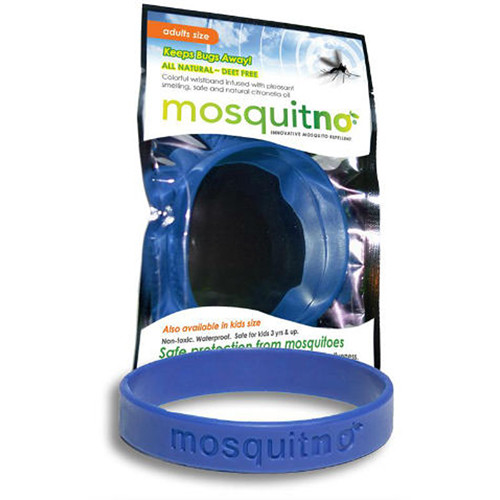 Mosquitno Mosquito Repellent Wristband (Large, Navy)