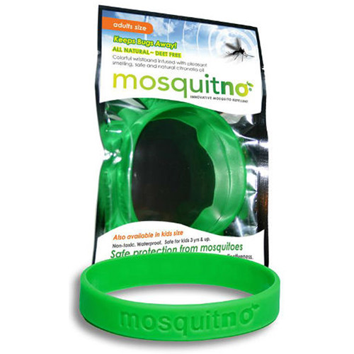 Mosquitno Mosquito Repellent Wristband (Large, Green)
