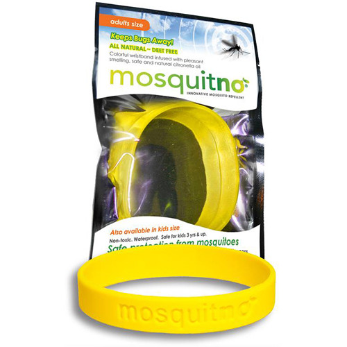 Mosquitno Mosquito Repellent Wristband (Large, Yellow)