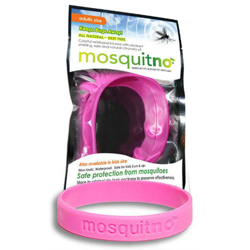 Mosquitno Mosquito Repellent Wristband (Large, Pink)