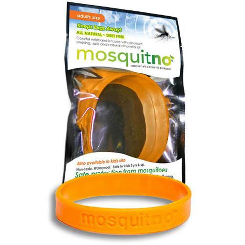 Mosquitno Mosquito Repellent Wristband (Large, Orange)