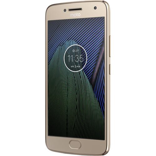 Moto Moto G5 Plus XT1687 64GB Smartphone (Unlocked, Fine Gold)