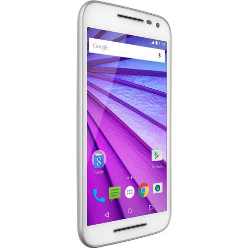 Moto Moto G 3rd Gen 8GB Smartphone with Black Case Kit (Unlocked, White)