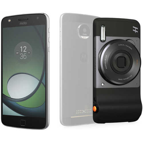 Moto Z Play XT1635 32GB Smartphone (Unlocked, Lunar Gray) with Hasselblad True Zoom Camera Kit