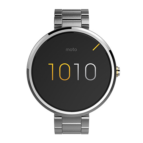 Moto Moto 360 Smartwatch (Light Finish, Light Stainless Steel Band, Slim Fit)
