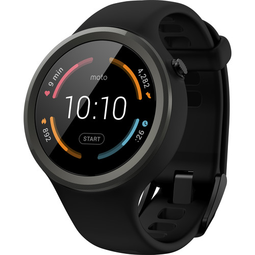 Moto 360 Sport Smartwatch (Black)