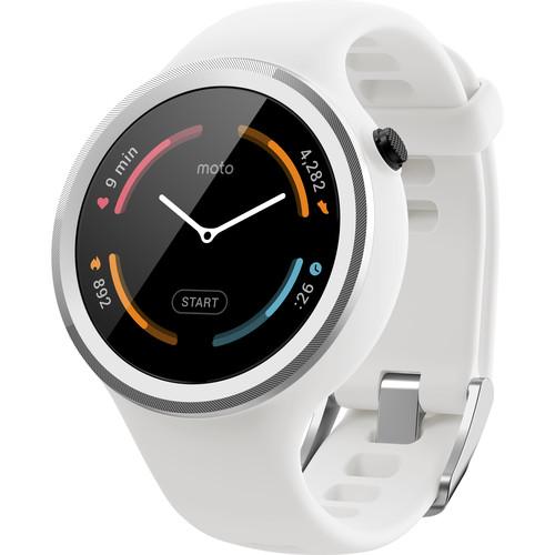 Moto Moto 360 Sport Smartwatch (White)