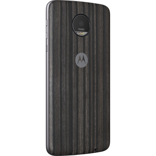 Moto Style Shell for Moto Z, Moto Z Droid, Moto Z Play, Moto Z Play Droid, & Moto Z Force (Charcoal Ash Wood)