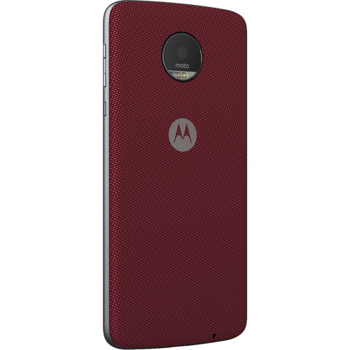 Moto Style Shell for Moto Z, Moto Z Droid, Moto Z Play, Moto Z Play Droid, & Moto Z Force (Crimson Ballistic Nylon)