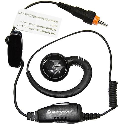Motorola CLP Swivel Earpiece with Short Cord, Inline PTT Mic