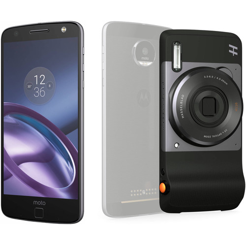 Moto Moto Z 64GB Smartphone Kit with Hasselblad True Zoom Camera (Unlocked, Black)