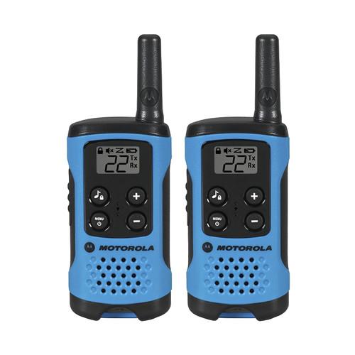 Motorola T100 Two-Way Radio (Blue, 2-Pack)