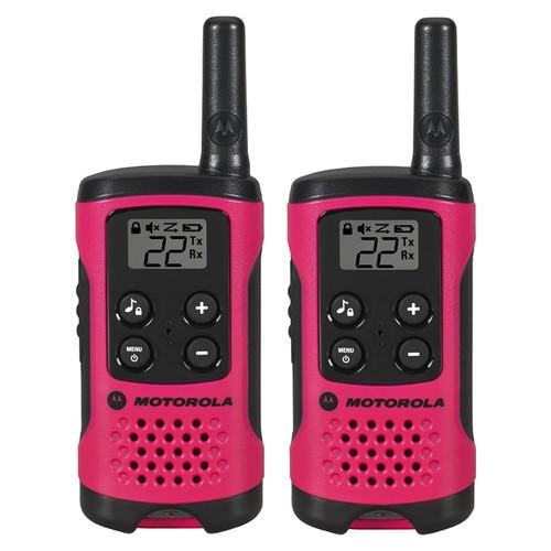 Motorola T107 Two-Way Radio (Pink, 2-Pack)