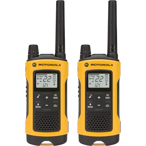 Motorola T402 2-Way Radio (2 Pack, Yellow)