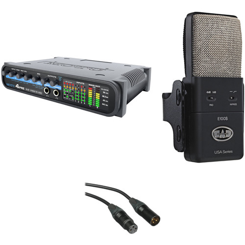 MOTU 4pre FireWire/USB Audio Interface with CAD Equitek E100S Condenser Microphone Kit