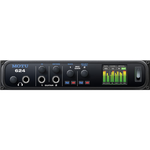 MOTU 624 - Thunderbolt and USB Audio Interface with AVB Networking and DSP (16 x 16, 2 Mic)