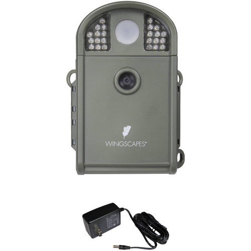 Moultrie Wingscapes BirdCam Pro Digital Wildlife Camera & AC Adapter Kit