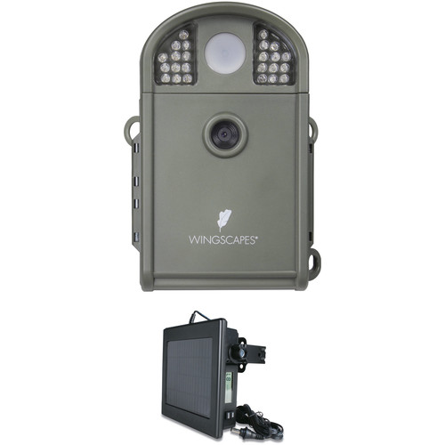 Moultrie Wingscapes BirdCam Pro Digital Wildlife Camera & Solar Panel Kit