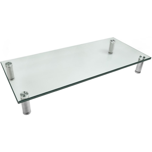 Mount-It! MI-7260 Glass and Aluminum Display Stand