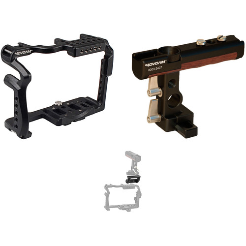 Movcam GH5 Cage Kit with Twist Handle and Riser Rail