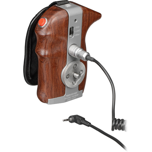 Movcam Right-Side Wooden Handgrip with VTR On/Off Trigger Switch