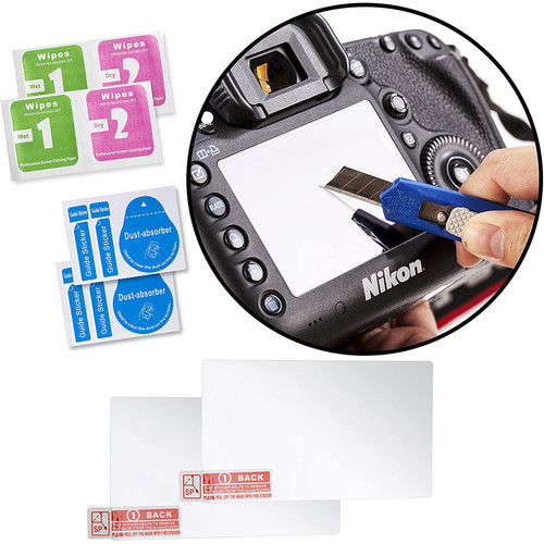 Movo Photo Glass Screen Protector for Nikon D700 (2-Pack)