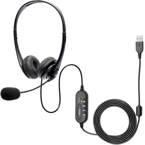 Movo Photo HSM-1 USB Headset with Boom Microphone