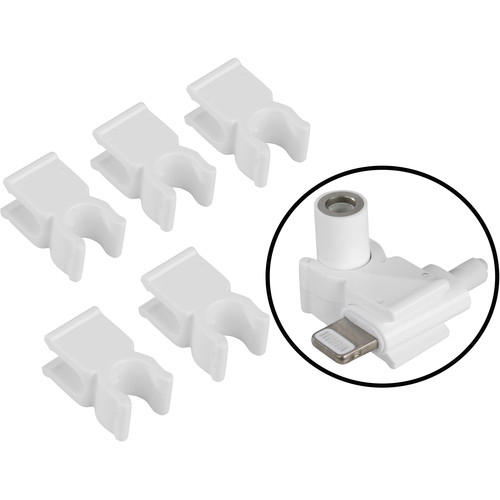 Movo Photo Lighting Cable Dongle Adapter Clips (5 Pack)