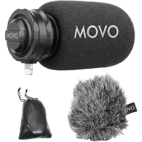 Movo Photo LPM100 Directional Stereo Microphone with Lightning Connector