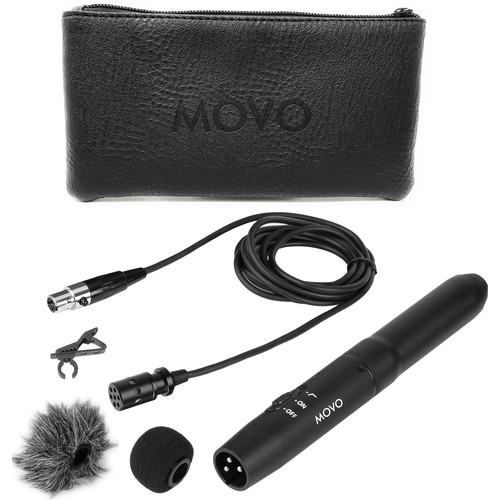 Movo Photo XLR Lavalier Omnidirectional Condenser Microphone With Phantom Power Supply