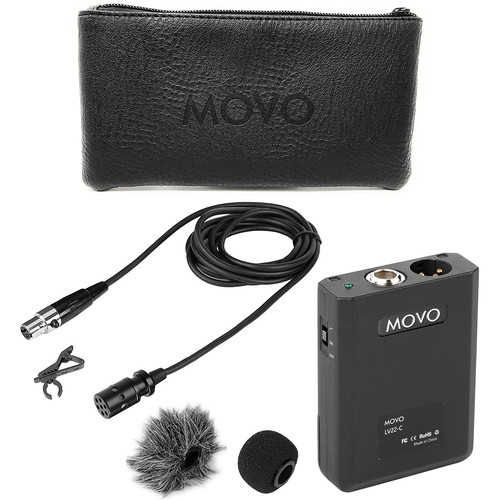Movo Photo XLR Lavalier Cardioid Condenser Microphone With Phantom Power Supply Body Pack, 12Mm Mic Capsule, Fo