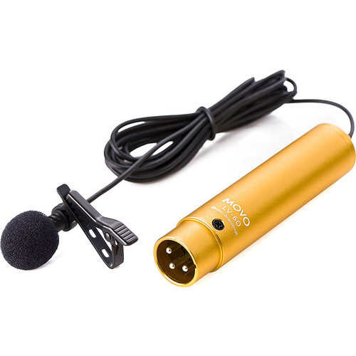 Movo Photo Pro Grade Omnidirectional XLR Lavalier Condenser Microphone, With 8.3Mm Mic Capsule, Lapel Clip And