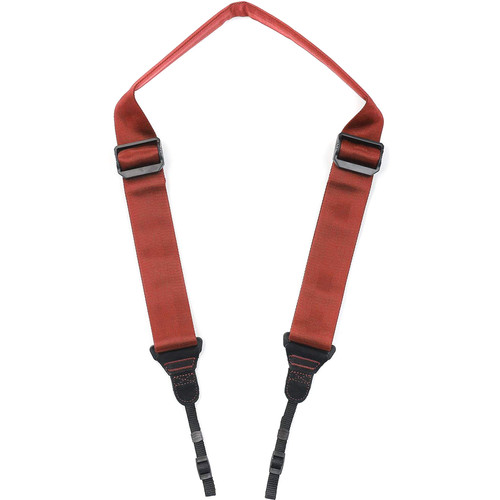 Movo Photo Ultrasoft Nylon-Webbed Shoulder/Sling Camera Strap with Anti-Fatigue Gel Neck Pad (Coral)