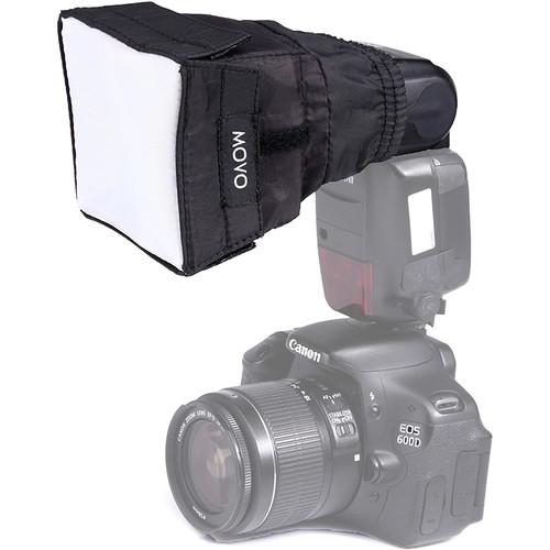 Movo Photo SB6 Universal Cloth Softbox Flash Diffuser with Elastic Mounting (Mini)