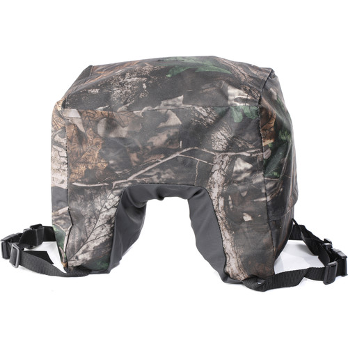Movo Photo Camouflage Camera Lens Bean Bag With Head Mounting Plate (Mossy Oak) (Full Size)