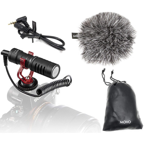 Movo Photo VXR10 Cardioid Condenser Video Microphone (Black)