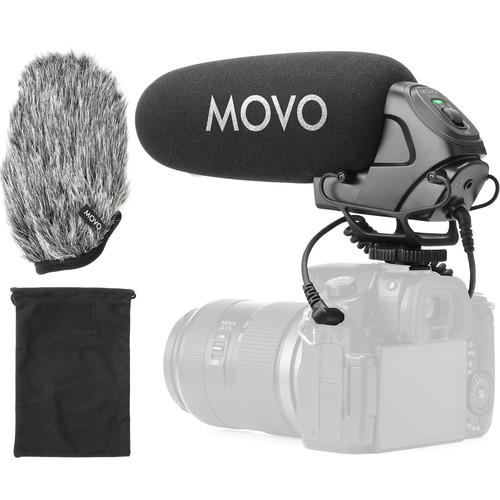 Movo Photo VXR3030 Camera-Mount Shotgun Microphone