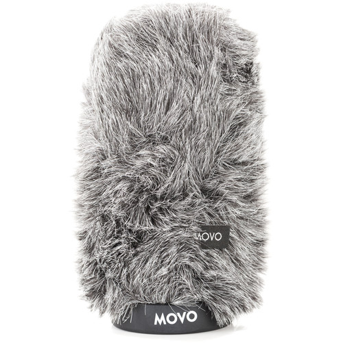 "Movo Photo WS-G140 Furry Rigid Windscreen for Microphones up to 5.5"" Long and 18 to 23mm in Diameter (Dark Gray)"