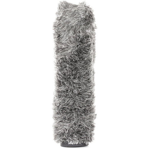"Movo Photo Furry Rigid Windscreen For Microphones 18-23mm In Diameter 8.6"" (Dark Gray)"