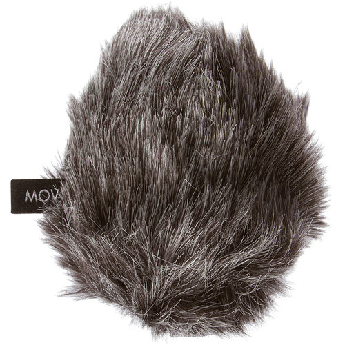 Movo Photo Furry Outdoor Microphone Windscreen Muff For Medium Microphones(Dark Gray)