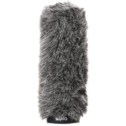 "Movo Photo Furry Rigid Windscreen For Microphones 18-23mm In Diameter and Up To 11.8"" (Dark Gray)"