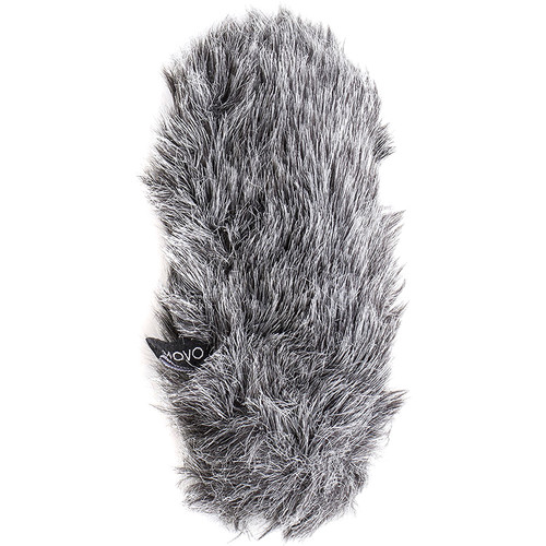 Movo Photo Furry Outdoor Microphone Windscreen Muff Custom Fit For Shure Lenshopper (Dark Gray)