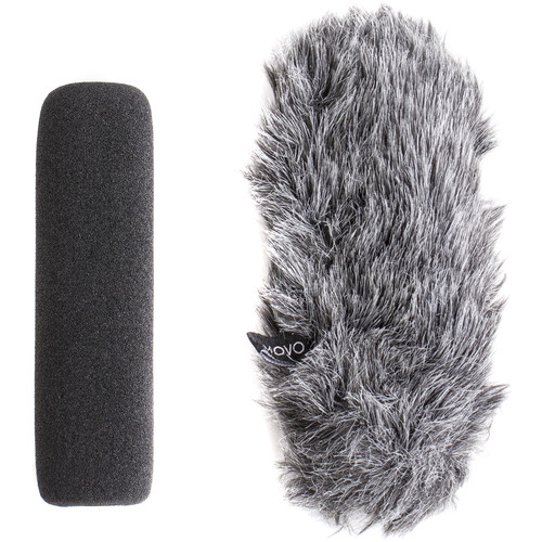 Movo Photo WS-G7 Foam & Furry Indoor/Outdoor Windscreen Combo Pack for Rode VideoMic GO