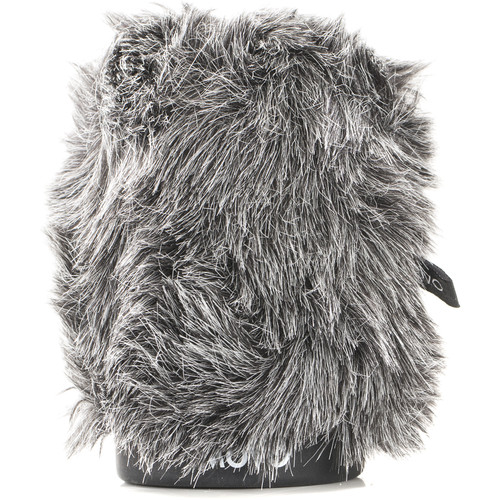"""Movo Photo WS-G80 Furry Rigid Windscreen for Microphones up to 3.1"""" Long and 18 to 23mm in Diameter (Dark Gray)"""